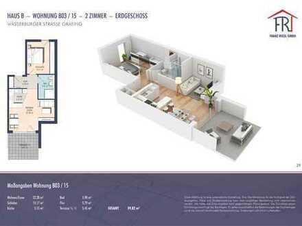 Komfortable 2-Zimmer-Erdgeschosswohnung