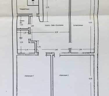 Möblierte 105 qm 4 Raum Wohnung bietet 1 x 24 großes Zimmer in Düsseldorf Stadtmitte
