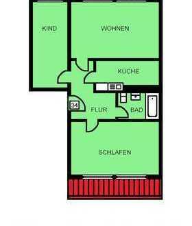 Tolle 3 Raum Wohnung im Dachgeschoss