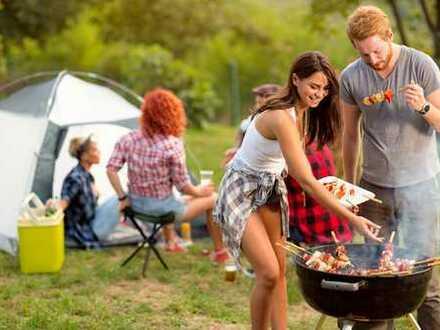 Campingplatz mit Dauercampern