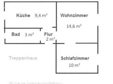 Gepflegte 2-Zimmer-Wohnung mit Einbauküche in Weiden in der Oberpfalz