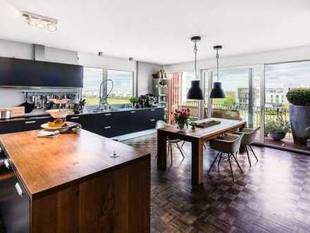 Penthouse der Superlative mit Blick über Frankfurt und den Taunus