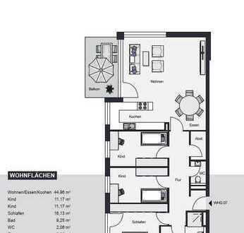 Schöne 4-Zimmerwohnung Südbalkon