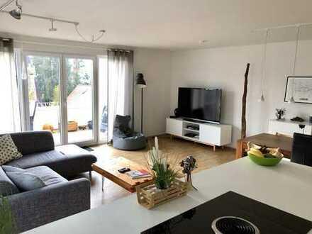 Moderne, zentral gelegene 4-Zimmer-Wohnung mit idyllischem Blick auf die historische Ziegelei