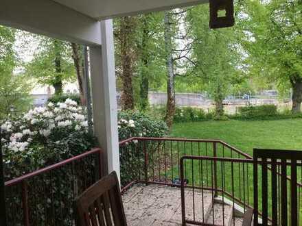 Nur kurz im Angebot...Rarität, Herzogpark, Traumhafte Gartenwohnung direkt am Isarkanal, 6 Zimmer