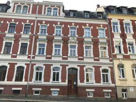 Aufgepasst! 1-Raum-Wohnung im 1. OG, Bad mit Wanne + Dusche + Fenster, Balkon in den Hofbereich