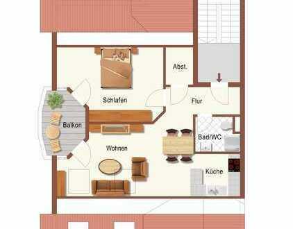 Klein - fein - Singlewohnung im zweiten Dachgeschoss
