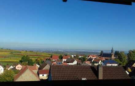 Sonnige Dachgeschosswohnung mit wunderschönem Panoramablick über die Rheinebene