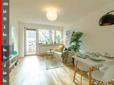 Wohnen am Westpark: Bezugsfreie, kernsanierte 1,5-Zimmer-Wohnung mit Balkon