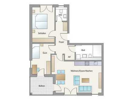 Kapitalanlage oder Eigennutzung! Schicke- und moderne 3-Zimmer-Wohnung mit großzügiger Loggia!