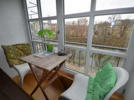 3-Zi.Maisonette-Whg mit Dom-/und Donaublick und Einbaukü. in Stadtamhof/Insellage