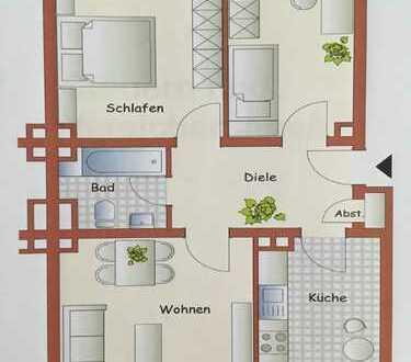 Schöne drei Zimmer Wohnung, Erstbezug nach umfassender Renovierung/Modernisierung