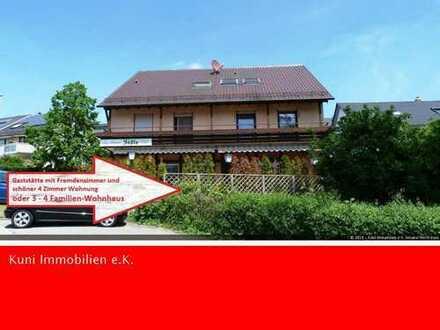 Großes Haus mit Gaststätte und 6 Gästezimmer! Plus schöne 4 Zimmerwohnung mit 117 m² im OG!