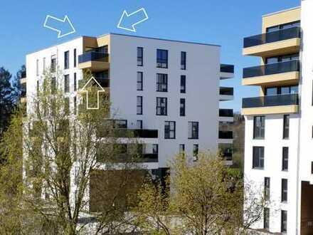 Penthouse in perfekter Lage, Neubau-Erstbezug, Skylineblick