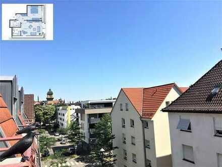 Exklusive, gepflegte 2-Zimmer-DG-Wohnung in Zentrumslage mit Balkon und Einbauküche