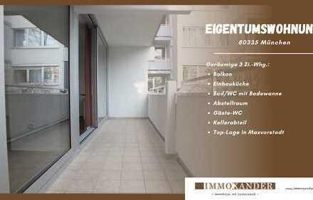 IMMOXANDER: *Geräumige 3 Zi.-Whg. - Balkon, Einbauküche, Kellerabteil - in Top-Lage - 80335 München*
