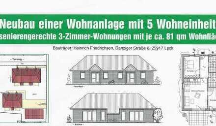 Seniorengerechte 3-Zimmer-Neubauwohnung zum Kauf in Leck