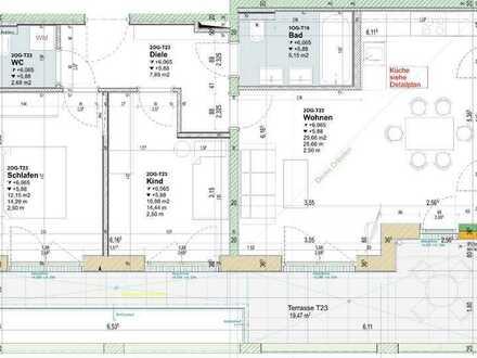 Attraktive 3-Zimmer Wohnung im Neubau !!! (T23)