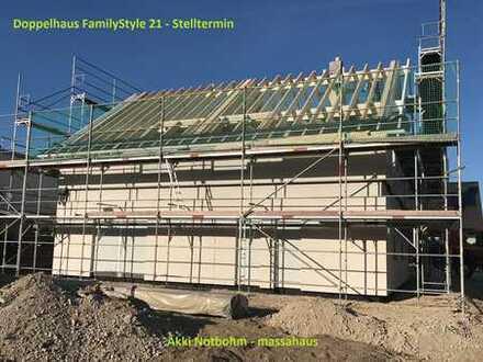 zwei Familien ein Haus - günstiger, schneller, nachhaltiger können Sie nicht bauen