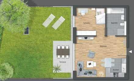Exklusive 2-Zimmer-EG-Wohnung mit Einbauküche und Terrasse in Waiblingen