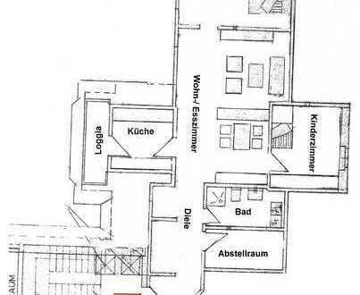 Gepflegte 3-Zimmer-DG-Wohnung mit Balkon in Warendorf-Freckenhorst
