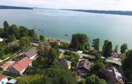 Starnberger See - Baugrundstück, 3.080 m² Grund, Seeblick, 30 Meter zum See+Ufergrundstück mit Steg!