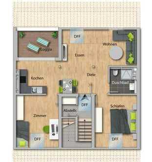 ERSTBEZUG nach Kernsanierung - 3 Zimmer-Wohnung mit Loggia