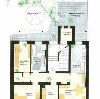 **4-Raum Wohnung mit kleinem Gartenanteil/Terrasse und Stellplatz im Hof in Marienthal*