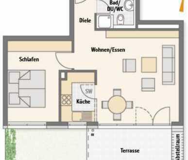 Neuwertige 2-Zimmer-Wohnung mit Balkon und EBK in Kornwestheim