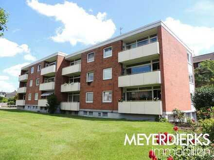 Nadorst-Lehmkuhlenstraße: 3-Zimmer-Wohnung im 1. Obergeschoss mit Balkon, zentral und ruhig gelegen