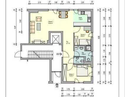 Gepflegte 3-Zimmer-Wohnung im Erdgeschoss