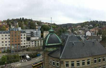 Traumausblick auf den Stuttgarter Fernsehturm - Helle 2-Zimmer-Wohnung mit Balkon in Stuttgart Mitte