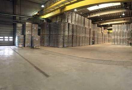 Lager- und Produktionshallen mit Kran, derzeit ab 1414 m² bis 16800 m²