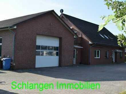 Objekt Nr. 19/822 Gewerbeobjekt - Wohnhaus mit Bürobereich und Halle in Barßel
