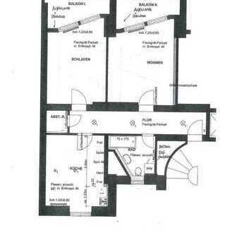 Bahnhofs-/Bismarckviertel * zentrale Lage * komplett neu saniert * große 2 Zi.-Whg. * 79 m²