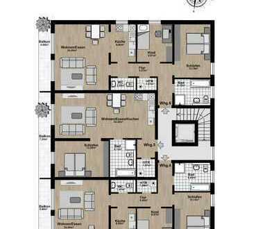 Mitten im Zentrum - perfekte Wohnung für Singles, junge Paare oder Senioren!