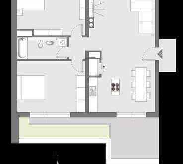 HAUS°54: Penthouse-Wohnung mit großer Terrasse und Gartenblick
