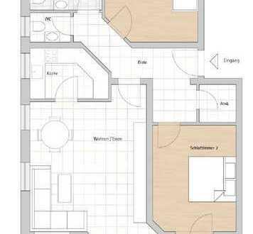 Endlich frei! Gemütliche 3-Zimmer-Wohnung mit zwei Balkonen und Stellplatz!