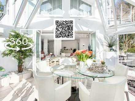 Traumhaft Im Grünen leben: Freistehende, exklusive Villa - im Nu auf der Kö