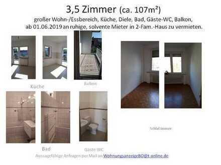 3,5-Zimmer-Wohnung mit Balkon von Privat in 2-Familienhaus in Bochum Riemke