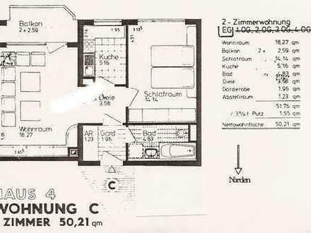 2-Zi-Wohnung, München-Johannesk., sehr ruhig, Loggia Südseite, S8, renoviert, Parkett