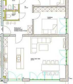 Exklusive 3-Zimmer Neubauwohnung (KfW55) mit luxuriöser Einbauküche in Rehling im Erstbezug