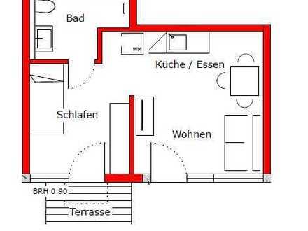 Erstbezug nach Sanierung mit Balkon: exklusive 2-Zimmer-EG-Wohnung in Maximiliansau