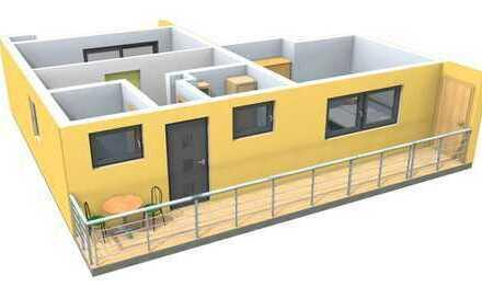 Neue ruhige 3-Zimmer-Wohnung mit Balkon & Garage / Erstbezug nach Sanierung