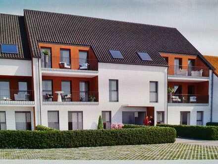 Erstbezug nach Neubaufertigstellung: schöne 3-Zimmer-Wohnung mit Balkon in Altstadtnähe