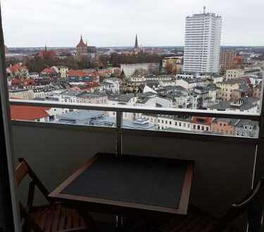 emütliche Einraumwohnung mit traumhaftem Blick über Rostock in zentraler Lage