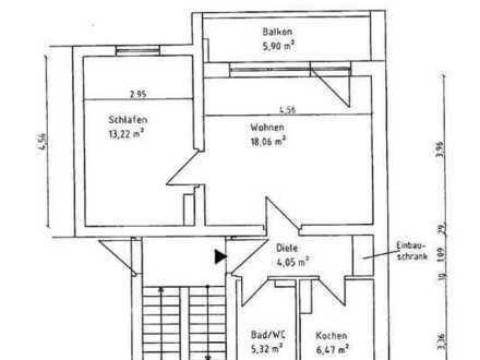 2-Raum-Wohnung mit Einbauküche und Balkon in Panschwitz