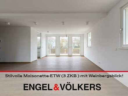 Deidesheim: Stilvolle Maisonette-ETW (3 ZKB) mit Weinbergsblick!