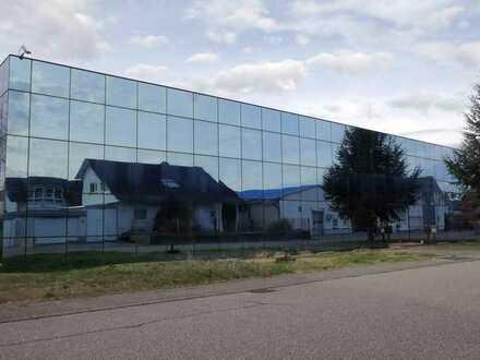 Moderne Produktions- und Lagerhalle mit Büro