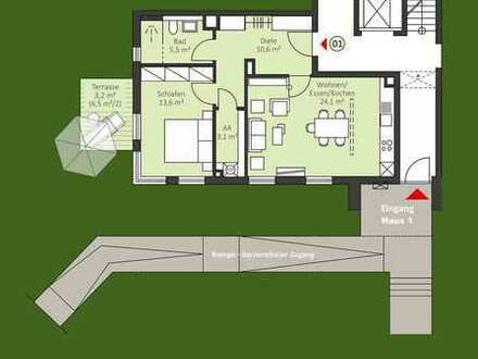 Urbane 2 Zi. Neubau ETW mit Balkon - auch für Kapitalanleger